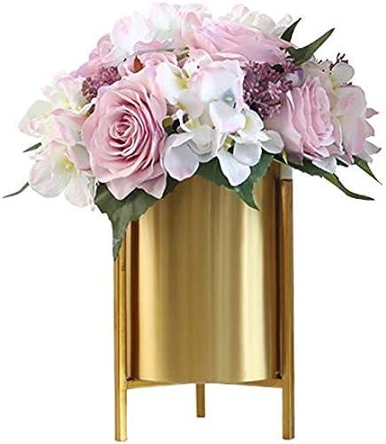 Xin lumenst er Metall Nordisch Wohnzimmer Nordische Einfachheit Getrocknete BlaumengeStück Desktop Vase Dekoration (Stil   A)