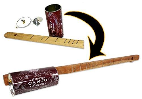 Einsaitiges Canjo-Set (Blechdosen-Banjo)–Ein witziges, spielbares Instrument zum selber bauen