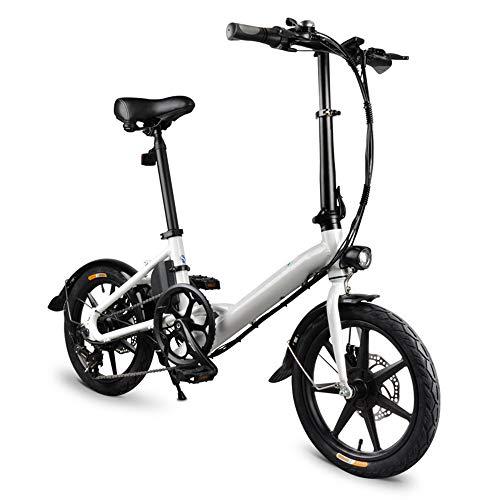 XINRISHENG Plegable eléctrico Bici del ciclomotor, 14 Pulgadas Neumáticos Variable 250W Motor Versión Velocidad de la Bicicleta, Alturas Ajustables Adultos y Adolescentes de la Bicicleta
