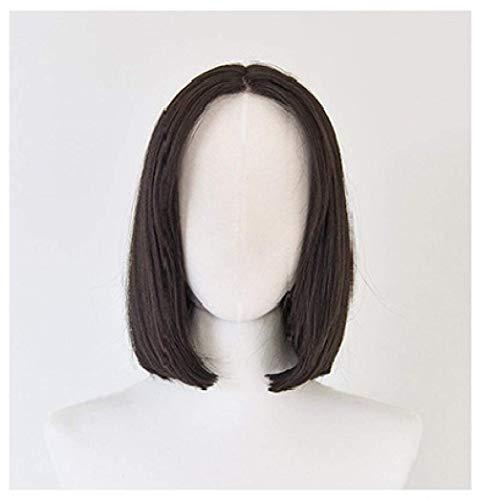 Perruque Dames Qualité Synthétique Cheveux Perruques pour Les Femmes Naturel Brun Court Droite Fibre Fibre Synthétique Cheveux Cosplay Halloween Robe Partie Perruques