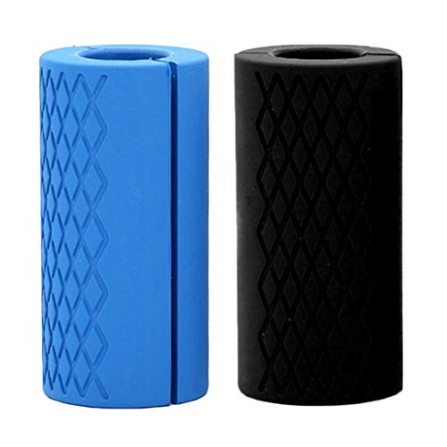 Perfeclan 2x Fat Silicone Dumbbell Barbell Grips Home Weight Lifting Muscle Builder