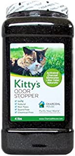 Kitty's Odor Stopper -4lbs - Eliminates cat litter box odors, Non-Toxic, Child Safe, Scent Free - Activated Charcoal Granular