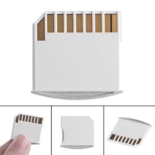 Sar546 Lector de tarjetas, memoria TF Micro SD Card adaptador de alta calidad para adaptador SD corto para MacBook Air – blanco oficina, ordenador, vVita doméstica, regalos de fiesta.