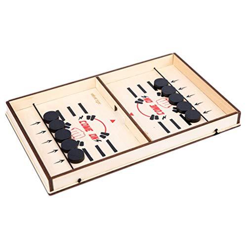 TOYANDONA Katapult Tafel Hockey Gezelschapsspel Stuiterende Schaak Hockey Speeltafel Desktop Strijd Ijshockey Spel Winnaar Bordspellen Speelgoed Voor Ouder Kind