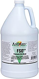 ANIMED FSO Flaxseed Oil Blend A Natural Source Of Fatty Acids For Healthy Skin, Coat, and Hooves