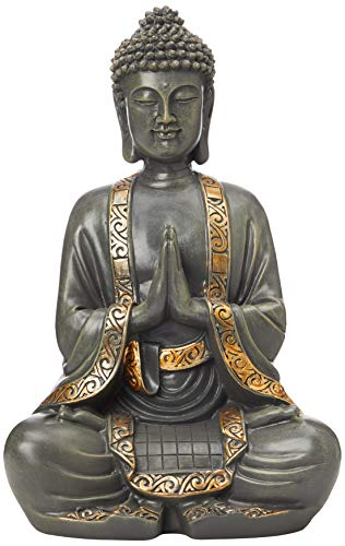 zen' Light grande estatua Buda mediación, resina, Bonze, 37.5 x 15 x 24 cm