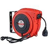 G Enrollacables Tambor Carrete Alargador de Cable Tambor Alargador Retráctil 1.5mm² x 20m