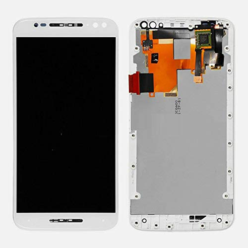 ePartSolution Wholesale_ Replacement Part for OEM Motorola Moto X Pure Edition XT1575 LCD Screen Display Digitizer Touch Screen + Frame Assembly USA (White)