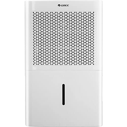 GREE Energy Star 50-Pint Dehumidifier with Built-in Vertical Pump for a Room up to 4500 Sq. Ft, GD50ABWP, 24.000, White