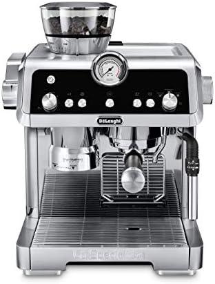 De'Longhi La Specialista Máquina espresso con amoladora de sensores, sistema de calefacción doble, sistema de latte avanzado y boquilla de agua caliente para café o té americano, acero inoxidable, EC9335M