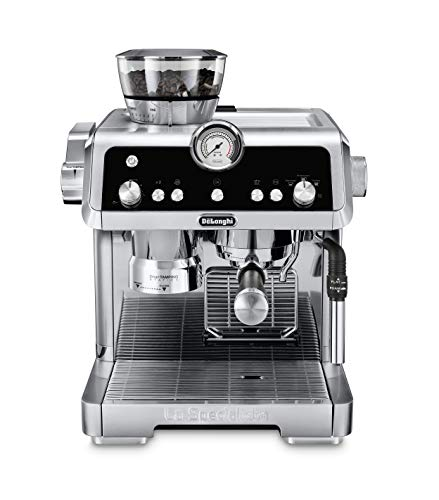 De#039Longhi La Specialista Espresso Machine with Sensor Grinder Dual Heating System Advanced Latte System amp Hot Water Spout for Americano Coffee or Tea Stainless Steel EC9335M