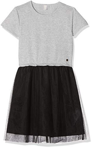ESPRIT KIDS Mädchen Knit Dress SS M Kleid, Silber (Silver 181), 170 (Herstellergröße: XL)