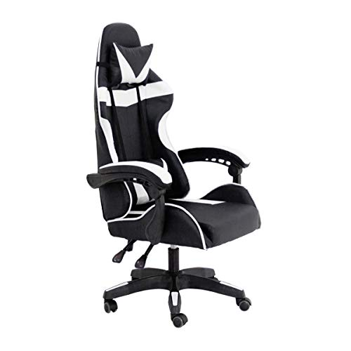 RAC TLV-GC030-WHITE Silla Gaming PC Videojuegos Racing Oficina Escritorio Despacho Sillon Gamer, Negro - Blanco ✅