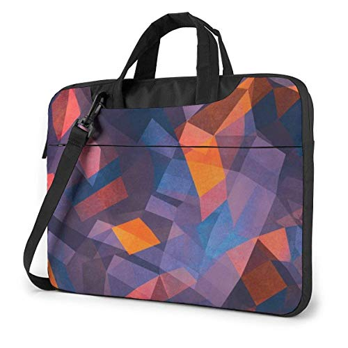 XCNGG Bolso de hombro Computer Bag Laptop Bag Carrying Laptop Case, Psychedelic Swirl Print Computer Sleeve Cover with Handle, Business Briefcase Protective Bag for Ultrabook, MacBook, Asus, Samsung,