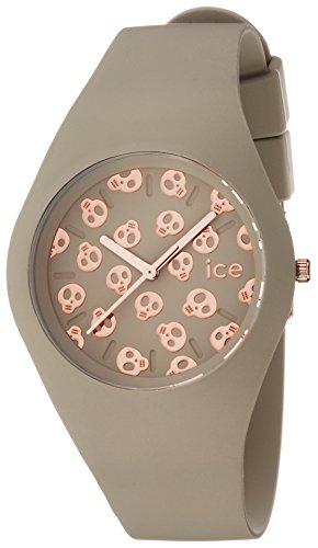 Ice-Watch Damen - Armbanduhr Ice Skull Analog Quarz Silikon ICE.SK.LIC.U.S.15