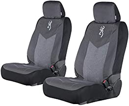 Browning Chevron Seat Cover | Low Back | Heather Black | 2 Pack