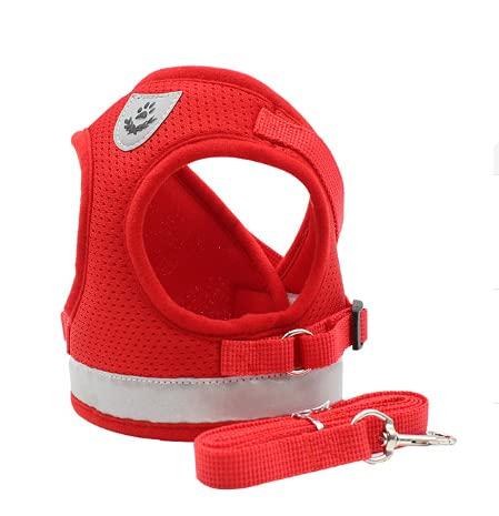 ZWWB Hundegeschirr mit Leine, Sommer-Haustier, verstellbare reflektierende Weste, Walking-Leine für...
