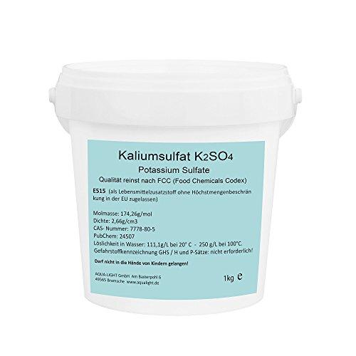 Aqua Light Kaliumsulfat 1kg K2SO4 - E515 Lebensmittelqualität
