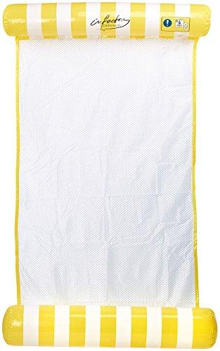 infactory Badehängematte: Superleichte Wasser-Hängematte, aufblasbares Kopf- & Fußteil (Luftmatratze mit Netz)