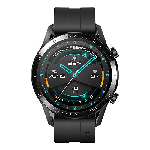 """Huawei Watch GT2 Sport - Smartwatch with 46mm Case (Up to 2 Weeks of Battery, 1.39 """"Amoled Touchscreen, GPS, 15 Sport Modes, Bluetooth Calls), Matte Black"""