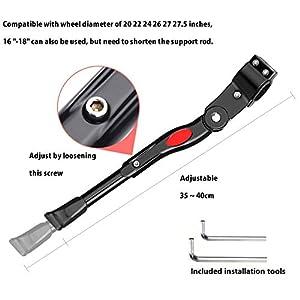 Exporee Pata de Cabra para Bicicleta, Aluminio Soporte Ajustable del Retroceso para Bicicleta de Montaña Bicicleta de Carretera con un Diámetro de Rueda de 20~27.5 Pulgadas