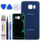 LUVSS New Back Glass Replacement for [Samsung Galaxy S6 Edge Plus] G928 (All Carriers) Rear Cover Glass Panel Case Housing with Adhesive Preinstalled Repair Part (Blue)