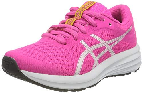 Asics Patriot 12 GS, Road Running Shoe, Pink GLO/White, 40 EU