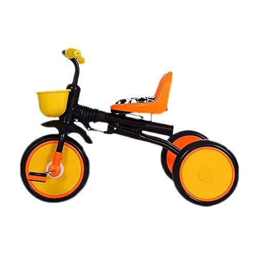 WLD Training Bike Trike Kids 'driewielers kinderfiets klapkinderwagen uitlopen driewieler 1-3-6 jaar verjaardagscadeau 3 kleuropties 50 x 70 x 45 cm oranje