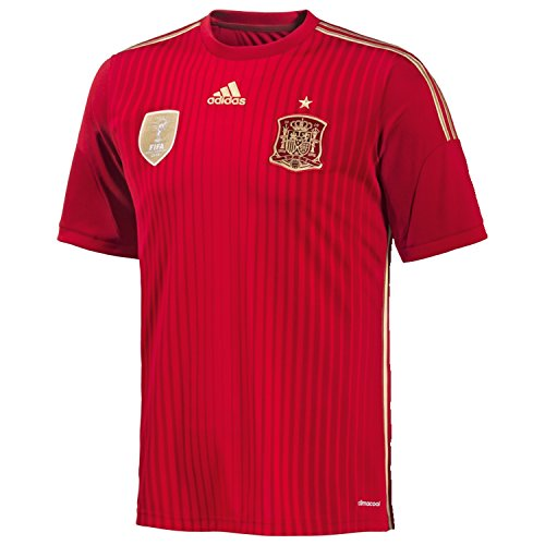 adidas Herren Trikot FEF Spanien Home, rot (Victory Red S04/Light Football Gold/Toro), S