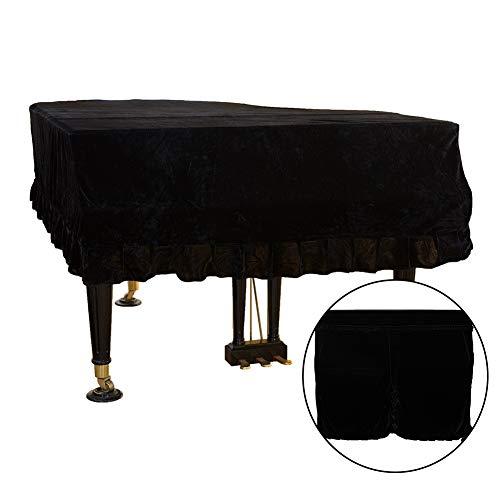 Klavierabdeckung, staubdichte Abdeckung Samt Flügelabdeckung Stoff waschbar Triangle Bordered Piano Cover