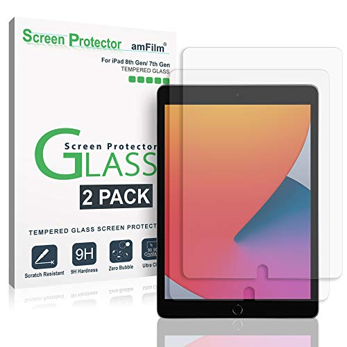 amFilm (2 Piezas Protector Pantalla para Apple iPad 8 (2020), iPad 10.2,...