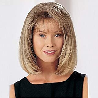 Short Style Curly Hair Wigs With Bangs for Women High Temperature Synthetic