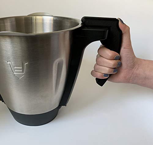 3DJunkies Abnehmbarer Griff V3 passend für Lidl Monsieur Cuisine Connect (Schwarz)