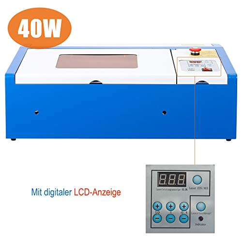 Orion Motor Tech 40W CO2 Laser Graviermaschine 300mm x 200mm Laser Engraving Maschine mit USB Anschluss Cutting Engraver Graveur Lasergravurmaschine