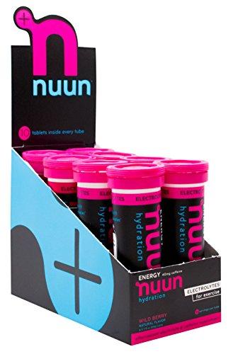 Nuun Sport + Caffeine Wild Berry 55gr, 8 piezas