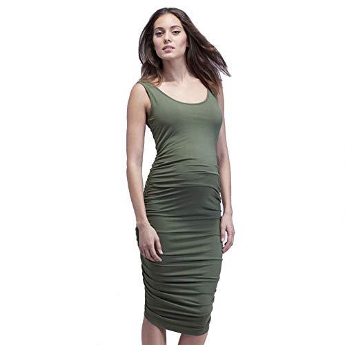 FWJ-clothes Femmes Vêtements de maternité Robes de maternité Robes d'allaitement maternelles sans Manches Casual Beach Wear Robe de soirée,Vert,S