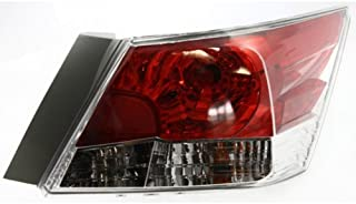 Tail Light Assembly Compatible with 2008-2012 Honda Accord Sedan Passenger Side