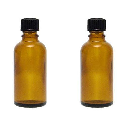 2 x Tropfflasche 50 ml, Medizinflaschen Braunglas made in germany BPA-frei, inkl. Beschriftungsetiketten