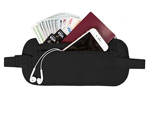 (バッグスマート)BAGSMART 貴重品入れ パスポートケース 旅行用品 シークレット ウエストポーチ トラベルポーチ 海外旅行便利グッズ 薄い ベージュ プレゼント ギフト