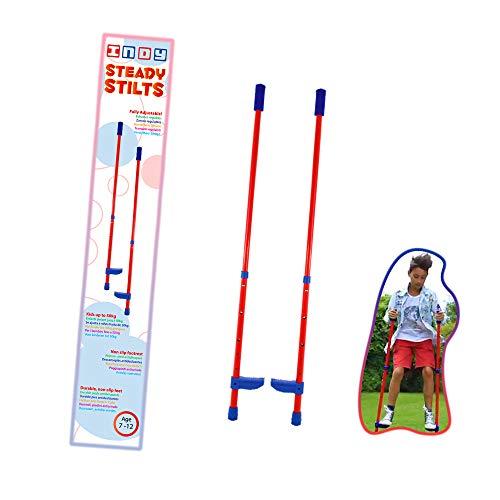 Indy Kids' Steady Stilts, Red, Medium