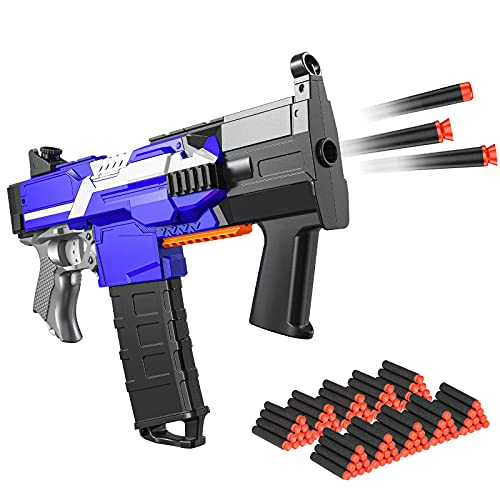 Elektrische Spielzeug Pistole für Nerf Pfeile, Automatische Blaster groß mit 100 Munition, 3 Modi Schuss USB Aufladbare Kinder Gewehr, Schießspielzeug für Junge Jungendliche Erwachsene Geschenkideen
