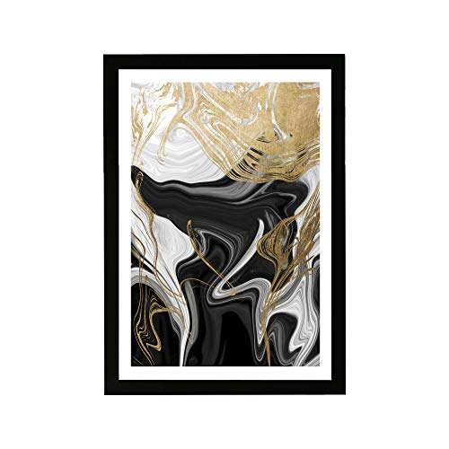 """Wynwood Studio Abstract Framed Wall Art Prints 'Ripples Crystals Home Dcor, 13"""" x 19"""","""