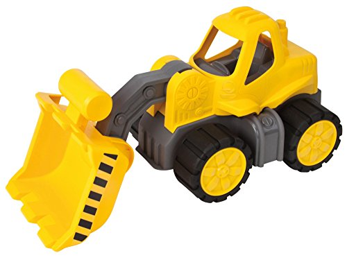 Big - 800056837 - Porteur Enfant - Big Power Truck Bulldozer - Jeu de Sable - Jaune