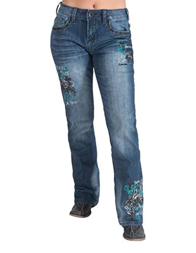 Cowgirl Tuff Western Jeans Womens Unbelievable 27 Long Med JUTQSP