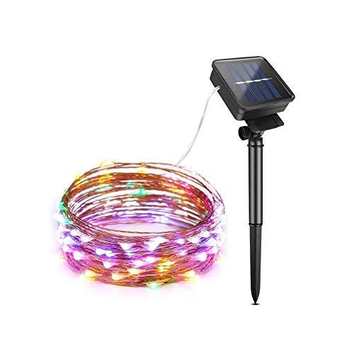 Luces de hadas de jardín solar LED, luces de cadena solar al aire libre, led de cuerdas decorativas, luces de cadena al aire libre, fiesta de boda de vacaciones ( Color : Colorful , Size : 5M 50LEDs )