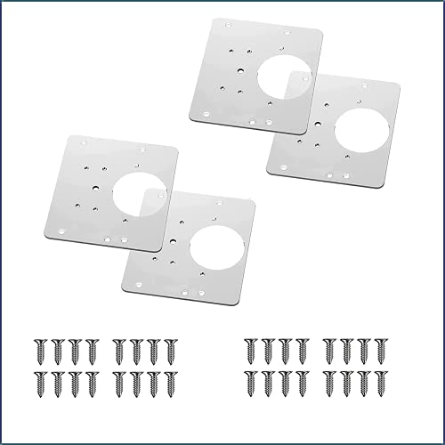 Cabinet Hinge Repair Plate with Hole, Door Hinge Repair Plate,Wooden Cabinet Hinge Repair Plate Door Kitchen Cabinet Hinge Repair Plate, Bracket Hinge Repair Plate (4pcs)