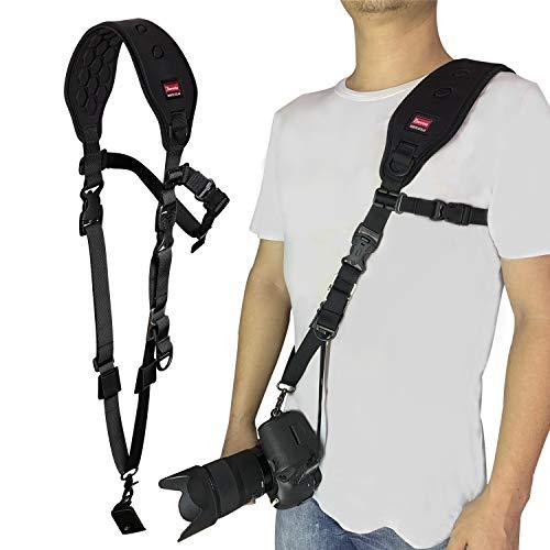 Ztowoto 2020, la más Nueva Correa para cámara con función de Masaje, hombrera, Correa para el Cuello de Hombro de Fuego rápido y Correa de Seguridad para cámara réflex Digital réflex Digital (Am-k)