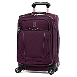 in budget affordable Travelpro Crew Versapack-Soft Side Expandable Spinning Case, Perfect Plums, Baggage, 20 Inches