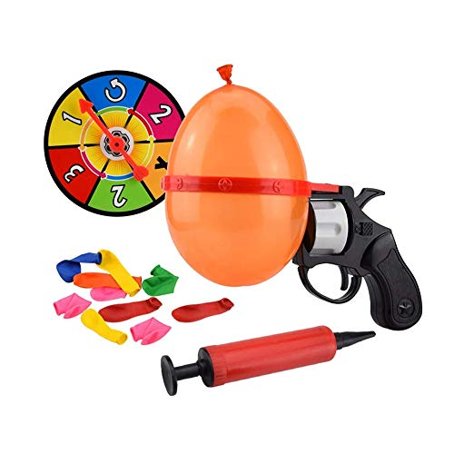 Balloon Gun,Kids Turntable Balloon Gun Party Party Game Whole Person Toy Family Interaction Game Lucky Roulette Fun Parent-Child Game