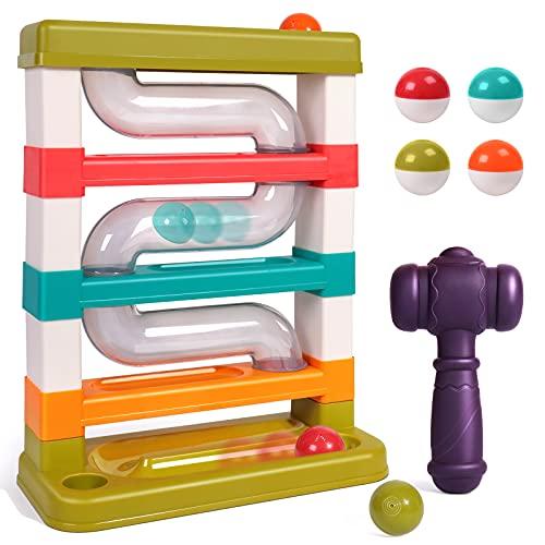 Rolimate Martillo de juguetes de golpeteo, bolas de martillo súper duraderas - Finas habilidades motoras de vástago educativo Toys